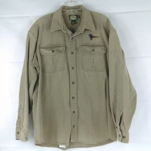 Cabela's Men's XLT Outdoor Gear Khaki Long Button